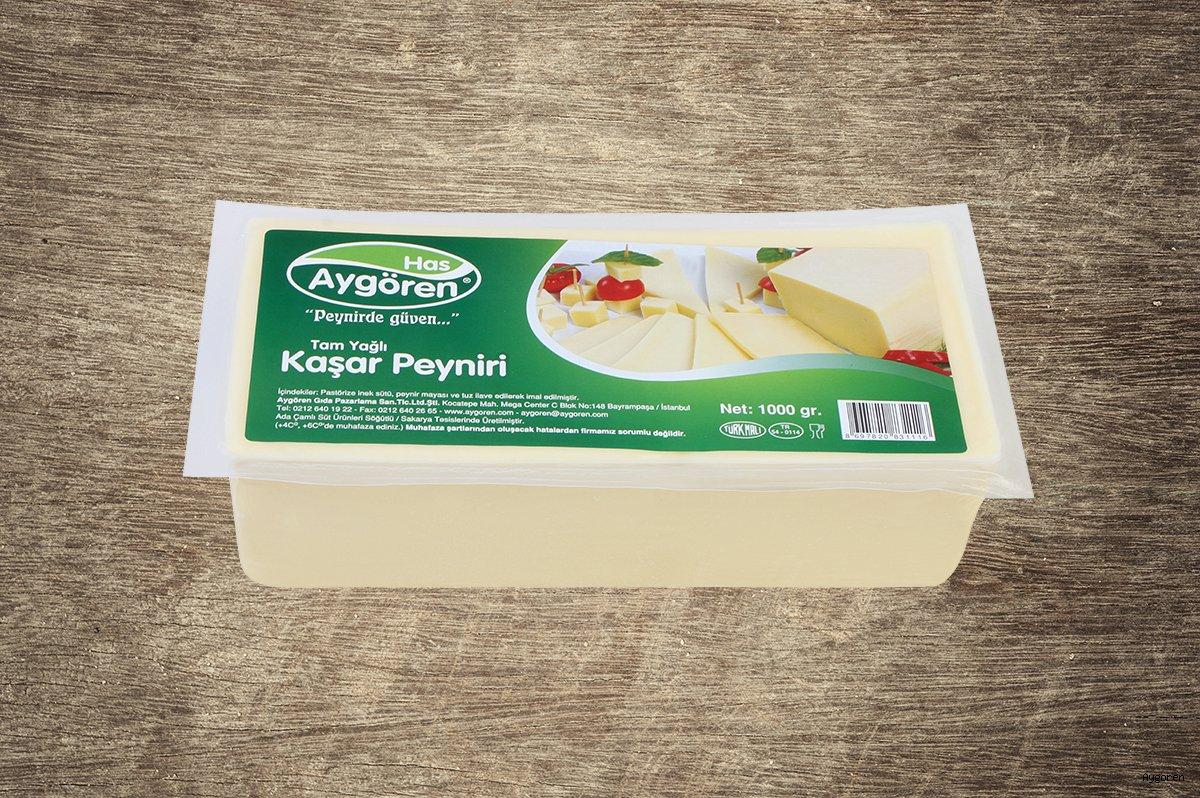 Kaşar Peyniri Tam Yağlı 1000gr