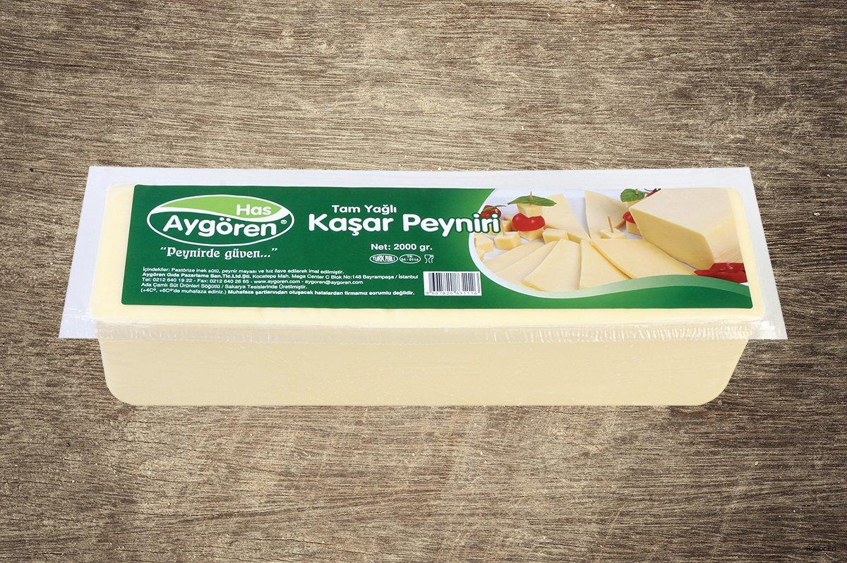 Kaşar Peyniri Tam Yağlı 2000gr