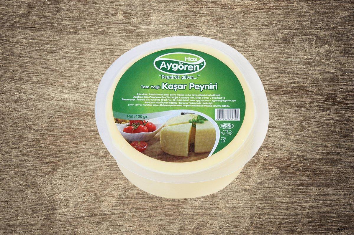 Kaşar Peyniri Tam Yağlı 400gr