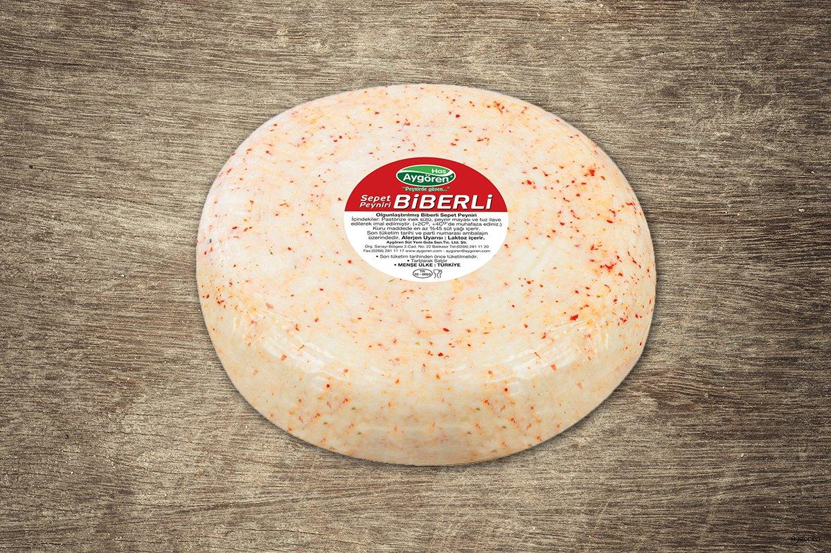 Sepet Peyniri Biberli Teker